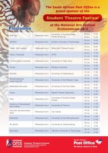 SA Post Office announces sponsorship of 2012 Student Theatre Festival
