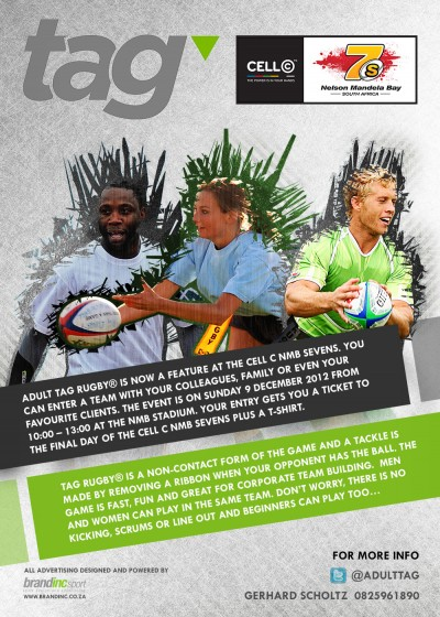 ADULT TAG RUGBY NOW PART OF CELL C NMB SEVENS