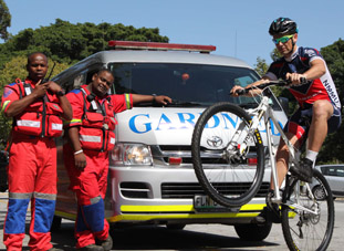 Cycle tour gets medical attention