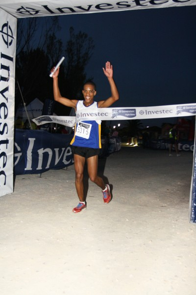 Olympian helps break night race record
