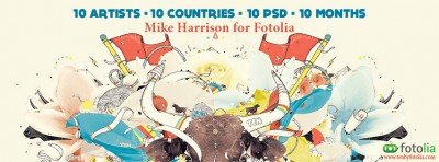 Fotolia presents Mike Harrison, the 5th digital artist of TEN, Season 2 – FREE PSD