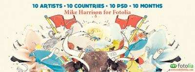 Fotolia presents Mike Harrison, the 5th digital artist of TEN, Season 2 – FREE PSD
