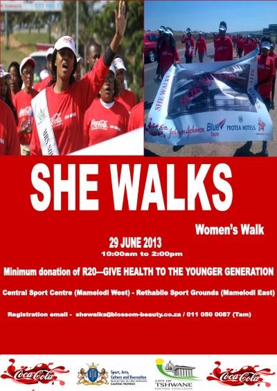 SHE WALKS Mamelodi – walk for a purpose