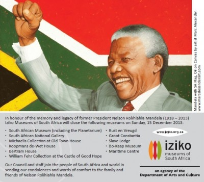 Iziko Museums closed on 15 December