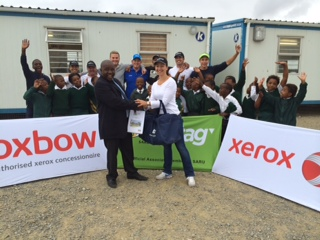 Oxbow Xerox tags another school in the  Tag Rugby® Adopt a School Programme