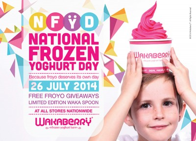 Wakaberry celebrates SA's first ever National Frozen Yoghurt Day.