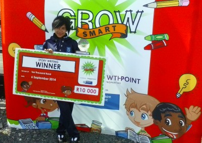 Ju-Che Arendse from Watsonia Primary School wins Growsmart storytelling competition