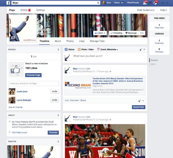 MyPR Facebook