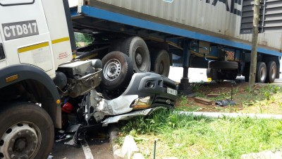"""I thought the end had come,"" says accident victim whose bakkie was crushed by truck"