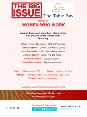 The Big Issue Breakfast-Women Who Work
