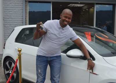 Stuttafords Royalty Rewards Winner Collects His New Golf 7 GTI