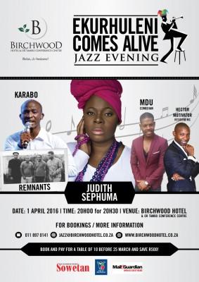 Judith Sephuma and Idols winner Karabo to perform at Birchwood Jazz evening