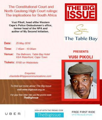 The Big issue Breakfast with Vusi Pikoli