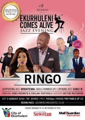 Ringo Madlingozi to Headline an Evening of Jazz at Birchwood Hotel