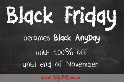 The Ultimate Black Friday Deal – 100% off