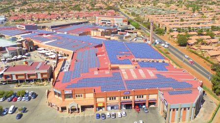 NSE 'paints' the mall@reds roof blue with solar panels