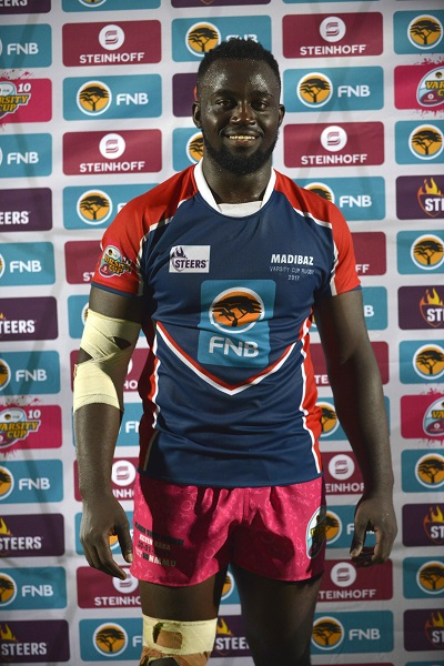 Kevin Kaba will fill the number eight position for the Varsity Cup Dream Team in their clash against the Junior Springboks in Stellenbosch on Tuesday. Photo: Saspa