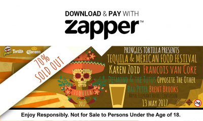 Fiesta with Zapper at the 2017 Tequila & Mexican Food Festival