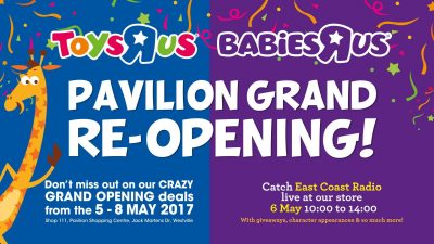 A weekened of fun and entertainment at the Toys R Us and Babies R Us Pavilion store reopening