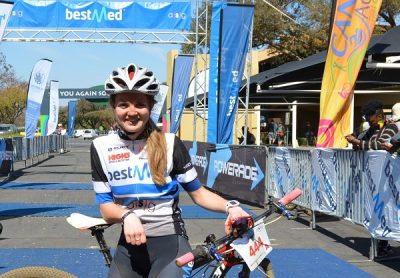 New signing Kristen Louw dazzles with Cycle4Cansa win