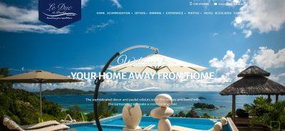 Le Duc de Praslin Villa's Website Design Launch by MAC Design Inc.