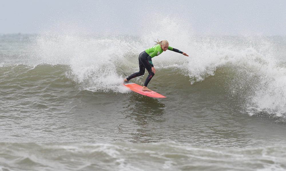 The Young Crew Charge Jeffreys Bay Point on Opening Day of Billabong SA Junior Champs presented by BOS