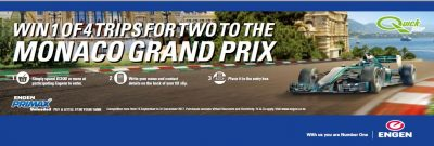 Win a trip to Monaco by putting a little F1 in your tank