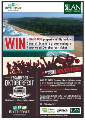 Stand a chance to win a R650 000 property with your ticket to Pecanwood Oktoberfest!