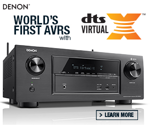 Denon® is proud to announce the world's first A/V Receivers with DTS Virtual:X® Technology