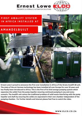 First AWALIFT system in Africa installed at Amandebuilt.