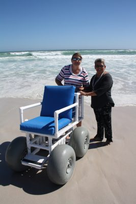 SA Vinyls Association Donates PVC Beach Wheelchair