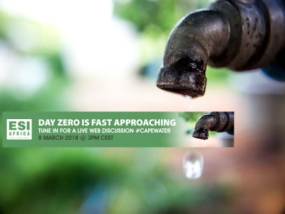 ESI Africa to host water expert webinar on technology to overcome Cape Town's impending Day Zero