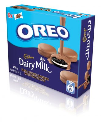 Oreo covered in Cadbury Dairy Milk now available in a 6-Pack!
