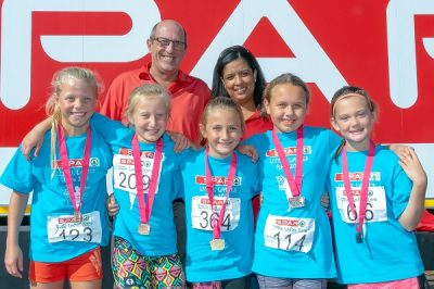 Little ladies run for environment on Workers' Day