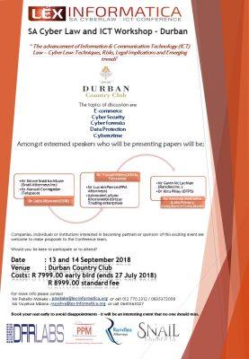 SA Cyber Law & ICT Workshop – Durban 2018