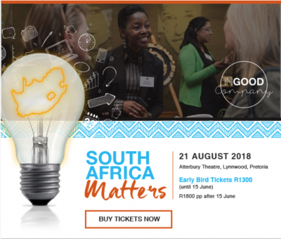 Nation Builder In Good Company 2018 Conference: South Africa Matters