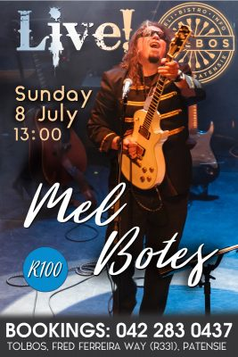 Mel Botes Live at Tolbos in Patensie!