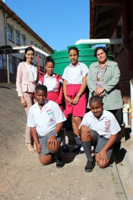 Engen assists 17 Durban Schools With JoJo Tanks