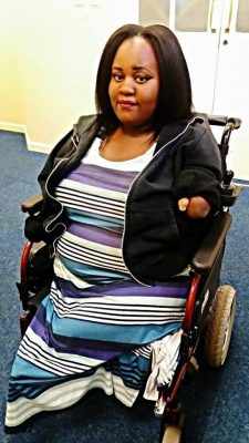 Limpopo Social Worker (22) with no arms crowdfunds for specialised car