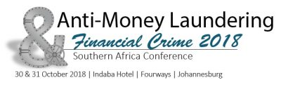Industry professionals set to gather at the Anti-Money Laundering and Financial Crime 2018 Southern Africa Conference