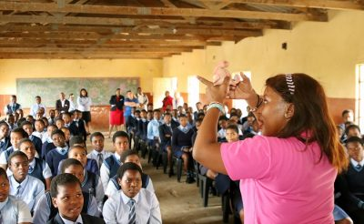Clicks gives back to local learners at Zinqobele Secondary School as part of its 50th birthday