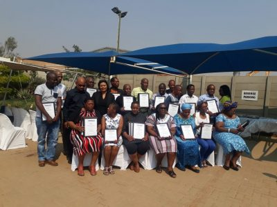 Interwaste & The Siyangena Environmental Stakeholder Forum train 16 Olifantsfontein/Tembisa students in Waste Management