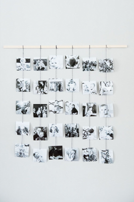 Creating a sentimental photo memory wall for your wedding!