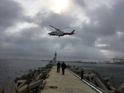 Transnet NPA tests helicopter service at Port of Cape Town