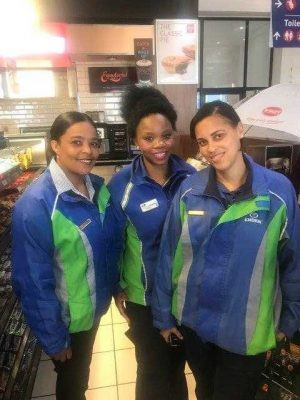 Engen staff give Belgian tourists a taste of real South African hospitality