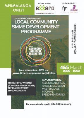 67 CEOS Mpumalanga Local Community SMME Development Programme