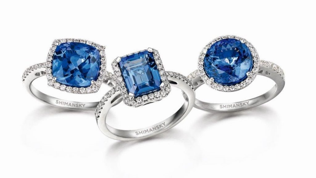 Image: Tanzanite gemstones available at Shimansky Jewellers Clock Tower Showroom.
