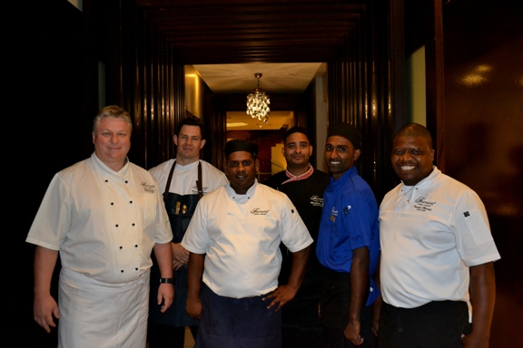 Star Chefs Tony Kocke, Ramon Gouws, Lane Sherrif, Kaylin Govender, Mukthar Alli and Thapelo Majafe