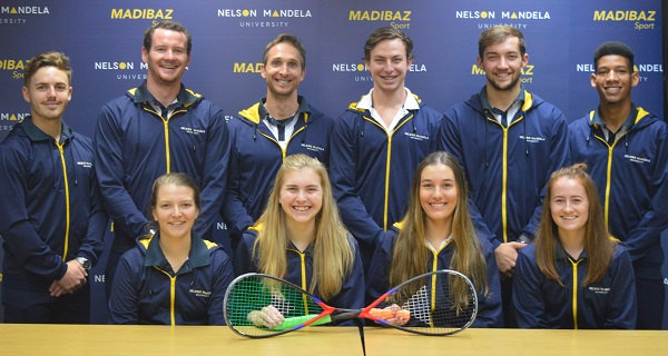 The Madibaz squash team