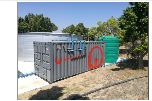 Veolia's plug-and-play potable water treatment plant will supply 150 m3/day to Stellenbosch University's Business School.